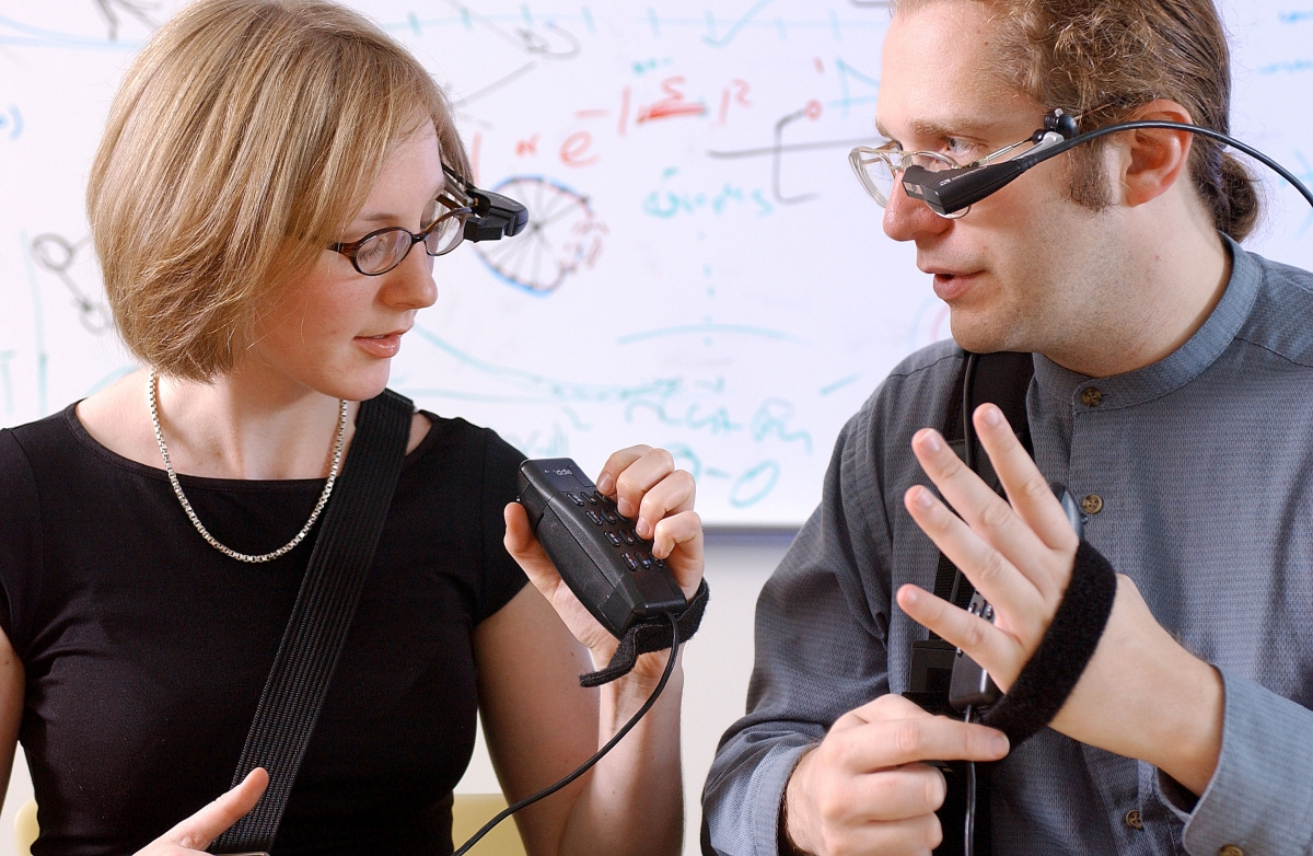 People experimenting with wearable computing