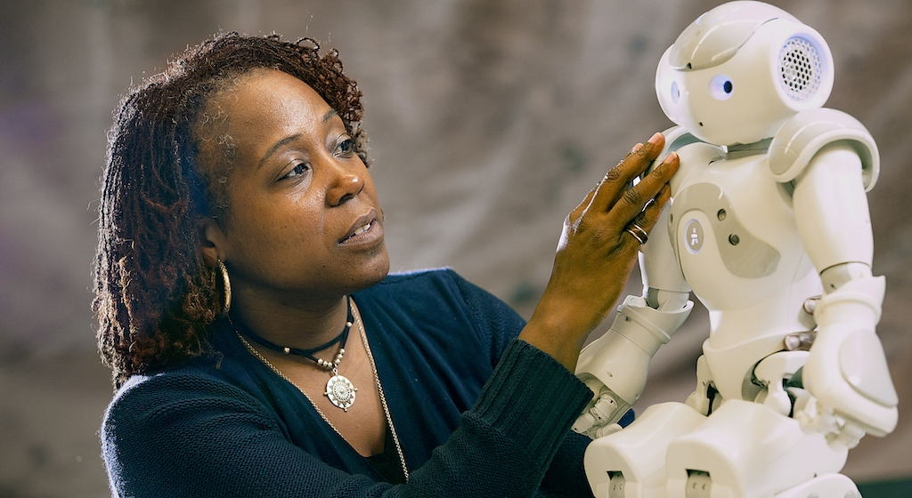 Ayanna Howard with her robot