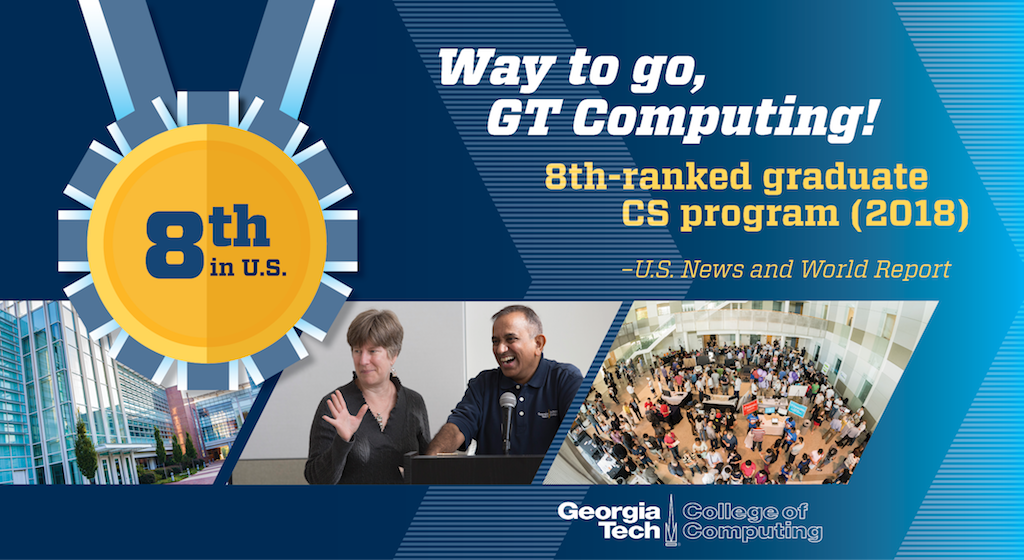 College of Computing Rises to No. 8 in U.S. News Rankings