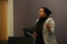 Swati Gupta discussed the mathematics of bias and fairness during her presentation.