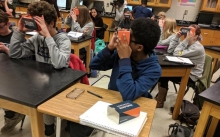 Students participate in VR classroom study